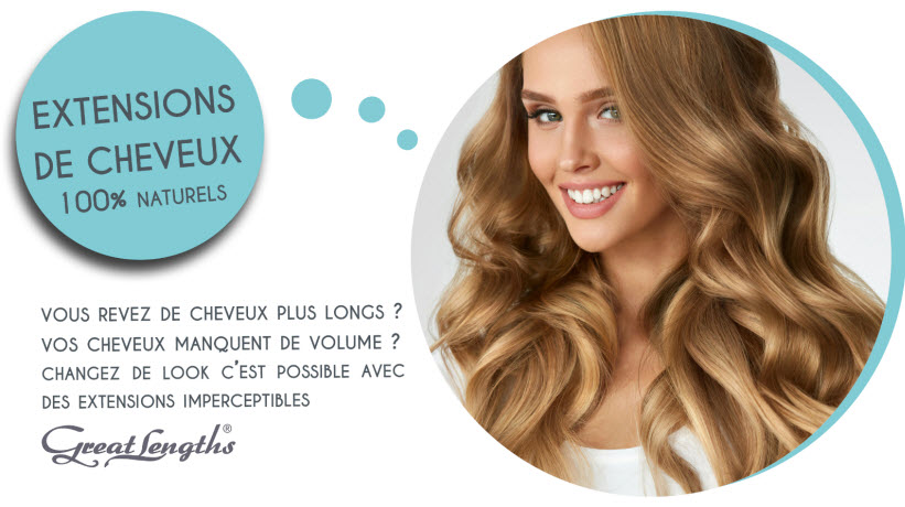 Extensions de cheveux 100% Naturels